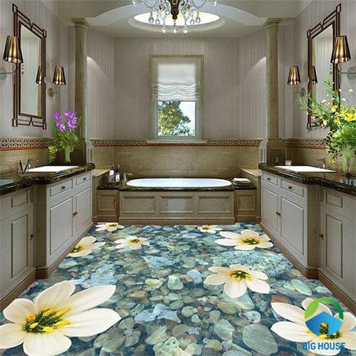 gạch lát nền nhà tắm 3D 29