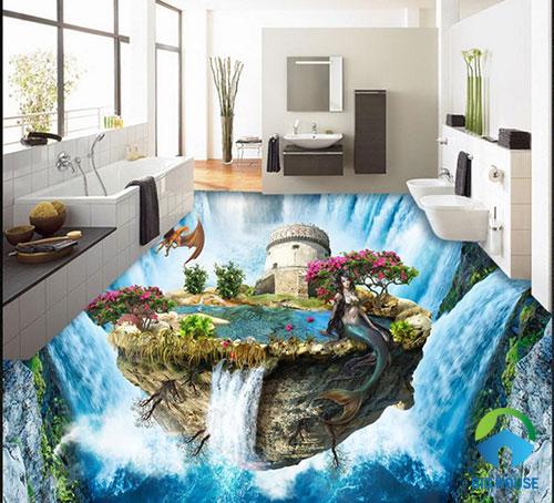 gạch lát nền nhà tắm 3D 31