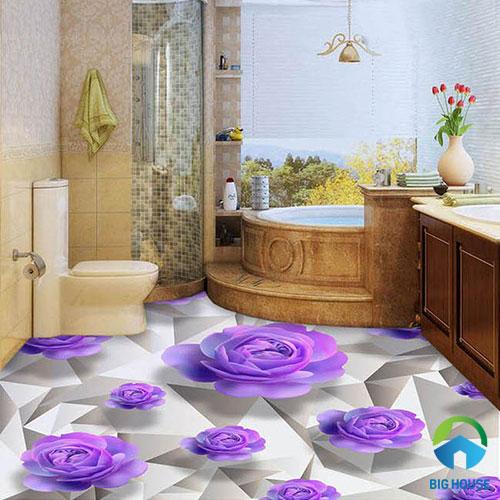 gạch lát nền nhà tắm 3D 32