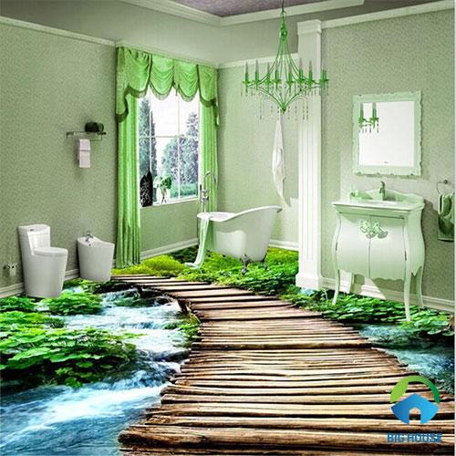 gạch lát nền nhà tắm 3D 33