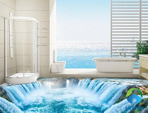 gạch lát nền nhà tắm 3D 35