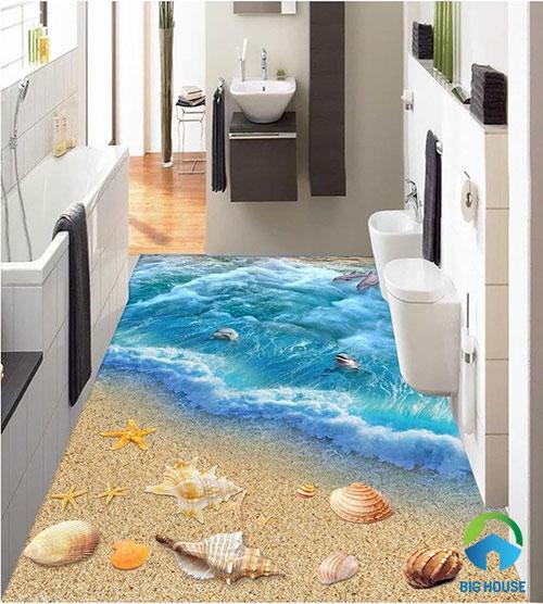 gạch lát nền nhà tắm 3D 5