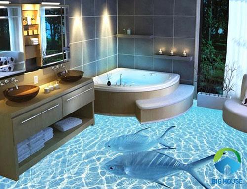 gạch lát nền nhà tắm 3D 6