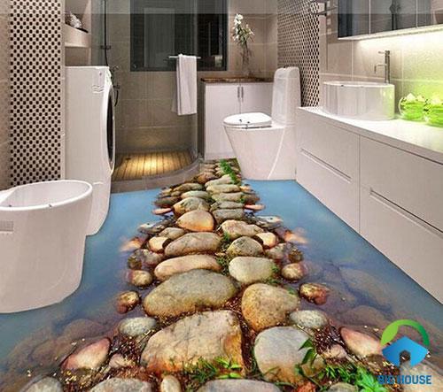 gạch lát nền nhà tắm 3D 9