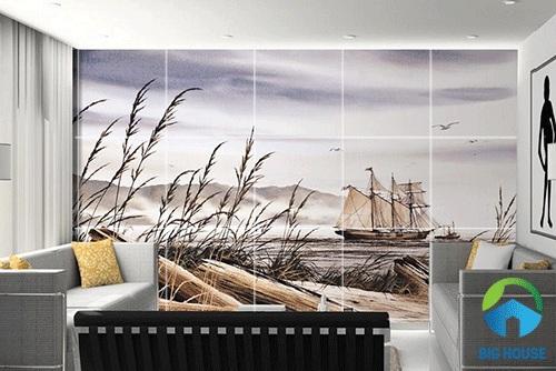 gạch tranh ốp tường phòng khách 4