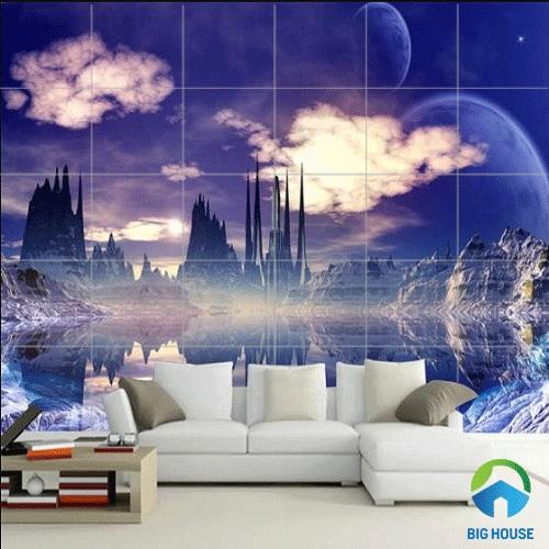 gạch tranh ốp tường phòng khách 9