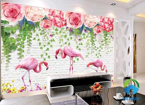 gạch tranh ốp tường phòng khách 3