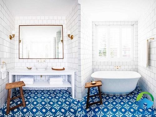 Chọn gạch lát nền màu xanh ra sao cho vừa đẹp vừa hợp phong thủy?