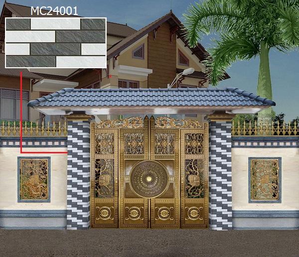 gạch ốp trụ cổng nhà MC24001