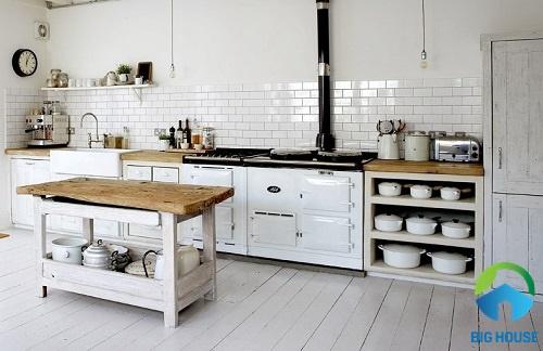 gạch ốp tường bếp màu trắng 10