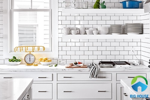 gạch ốp tường bếp màu trắng 11