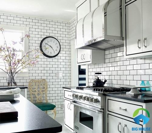 gạch ốp tường bếp màu trắng 13