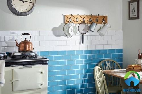 gạch ốp tường bếp màu trắng 15
