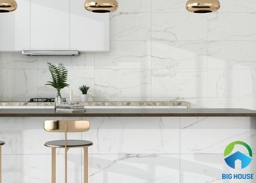 gạch ốp tường bếp màu trắng 18