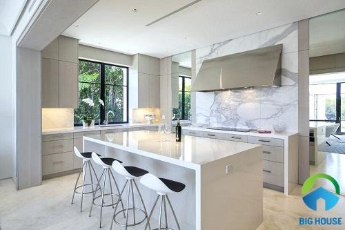gạch ốp tường bếp màu trắng 19