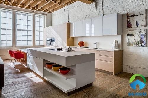gạch ốp tường bếp màu trắng 20