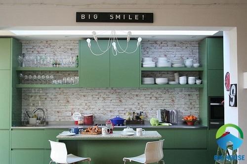 gạch ốp tường bếp màu trắng 21