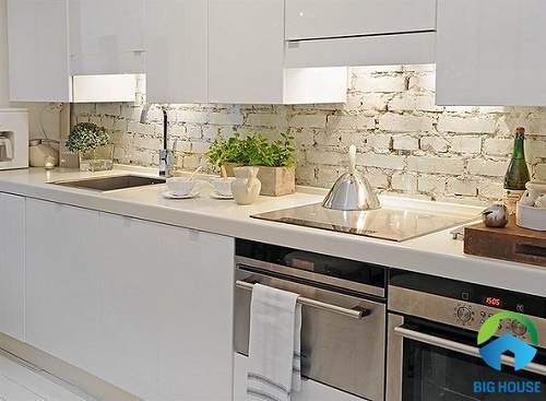 gạch ốp tường bếp màu trắng 22