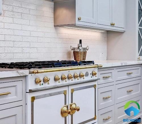 gạch ốp tường bếp màu trắng 25