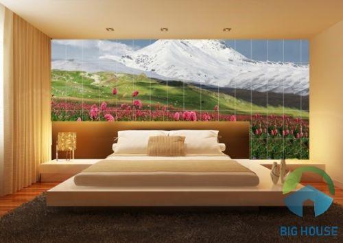 gạch tranh trang trí phòng ngủ 1