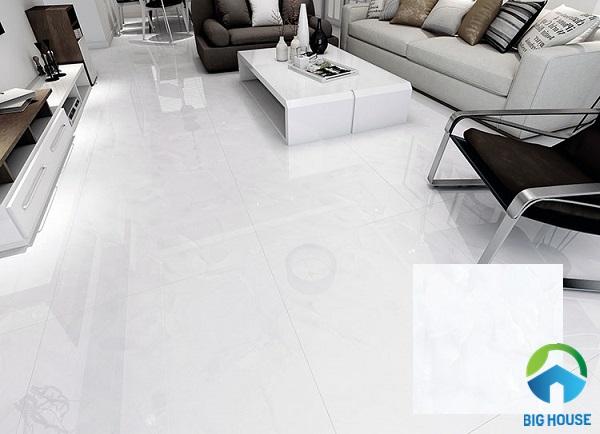 Mẫu gạch porcelain bóng kính cao cấp kích thước 80x80 Hoàn Mỹ 34022