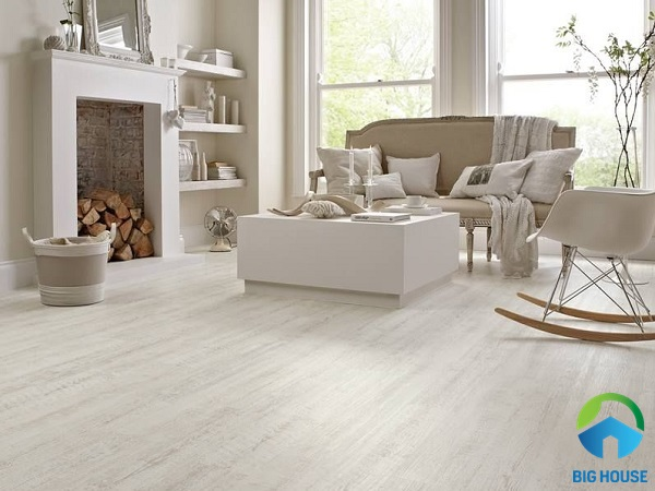 Mẫu gạch giả gỗ màu trắng thuộc dòng White Oak