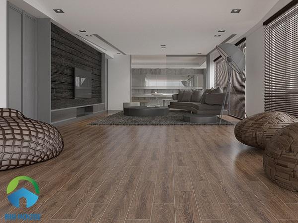Tasa 1564 là mẫu gạch giả gỗ có tông màu nâu đậm, mang phong cách sang trọng, hiện đại