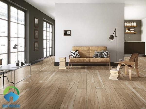 Mẫu gạch vân gỗ Eurotile MOC D03 sở hữu nét đẹp tươi mới từ màu sắc cho tới họa tiết