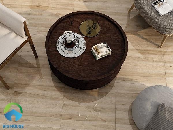 Mẫu gạch giả gỗ Vitto 5671 mang đến cho không gian vẻ đẹp ấm cúng, gần gũi