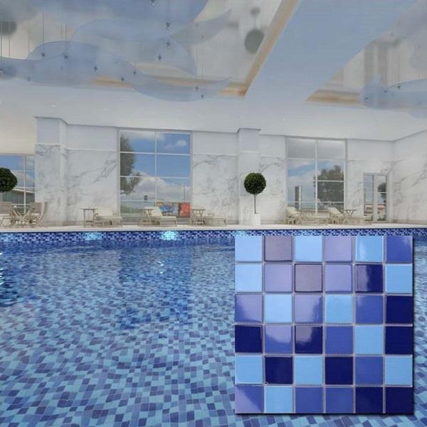 Mẫu gạch mosaic này mang vẻ đẹp thanh lịch, hiện đại