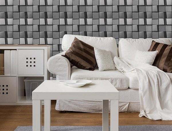 Mẫu gạch ốp tường màu ghi xám