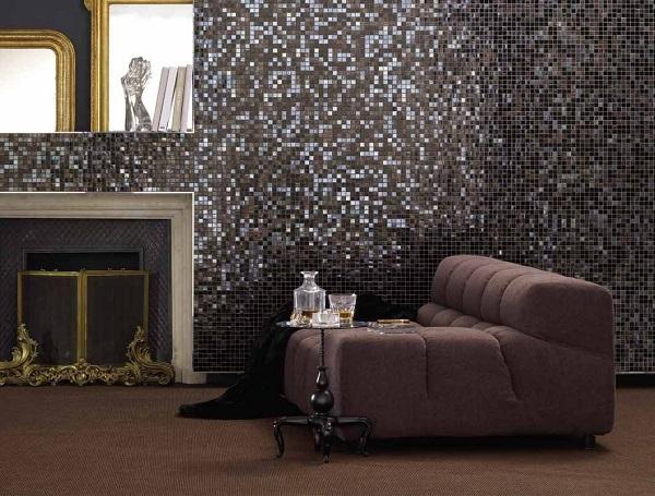 Mẫu gạch mosaic thủy tinh màu tối
