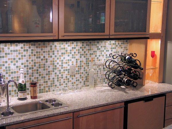 Gạch mosaic bếp