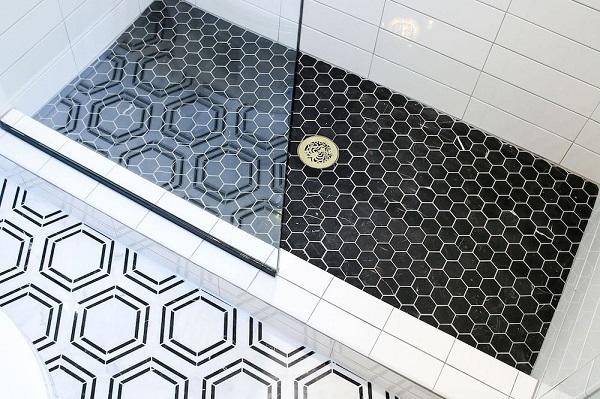 Mẫu gạch mosaic màu đen nổi bật