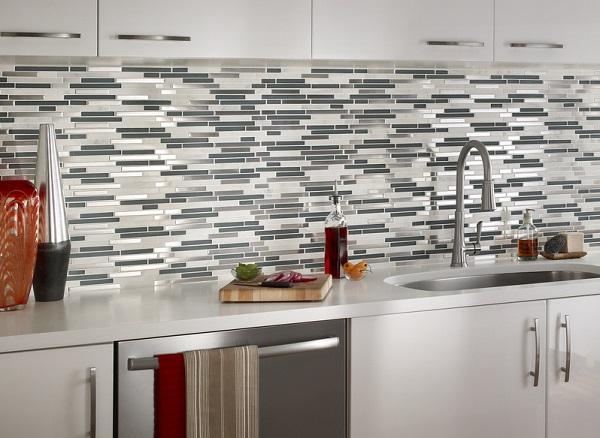 Mẫu gạch mosaic thủy tinh ốp tường bếp đẹp