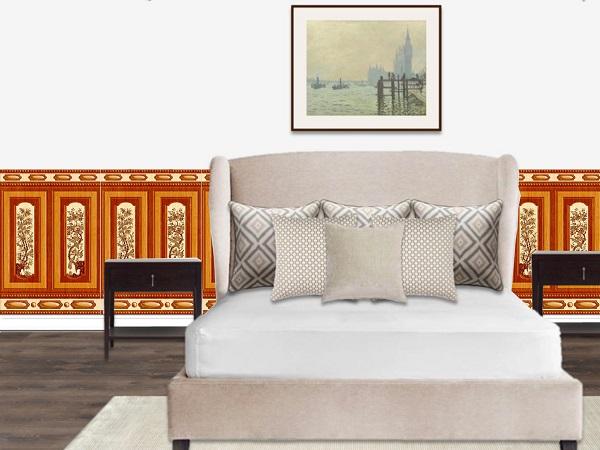gạch ốp tường phòng ngủ tasa 8682
