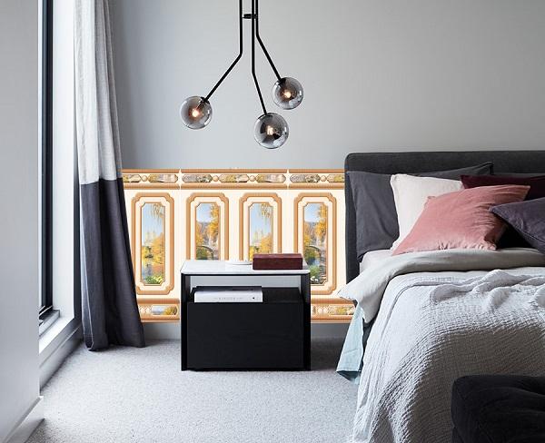 gạch ốp tường phòng ngủ tasa 8684