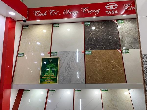 Showroom trưng bày gạch lát nền Tasa