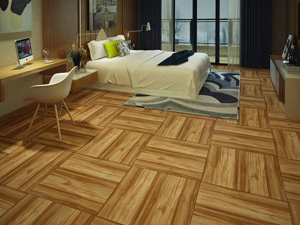 gạch giả gỗ tasa 6015 bề mặt men matt giúp chống trơn hiệu quả cho phòng ngủ