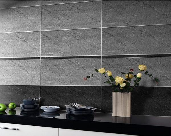 gạch ốp bếp 30x60 taicera gam màu ghi xám hiện đại
