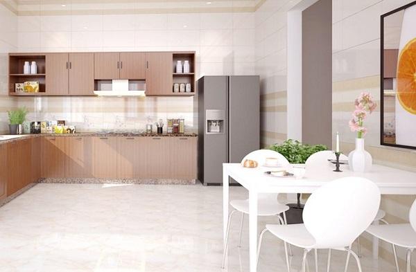 gạch ốp tường bếp 30x60 cmc màu vàng kem