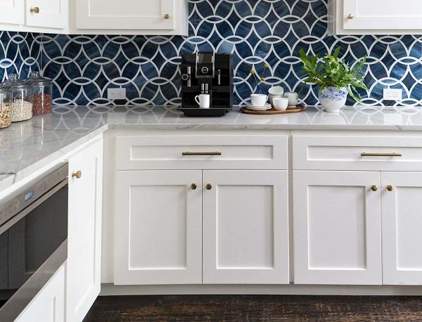 15++ Mẫu gạch ốp tường bếp màu xanh đẹp Cao cấp 2020