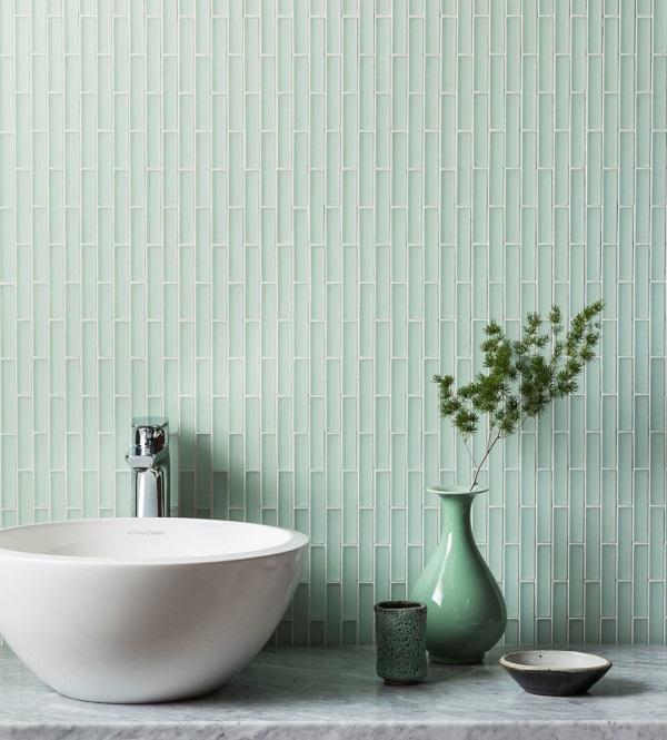 13++ Mẫu gạch ốp tường màu xanh đẹp và hợp phong thủy
