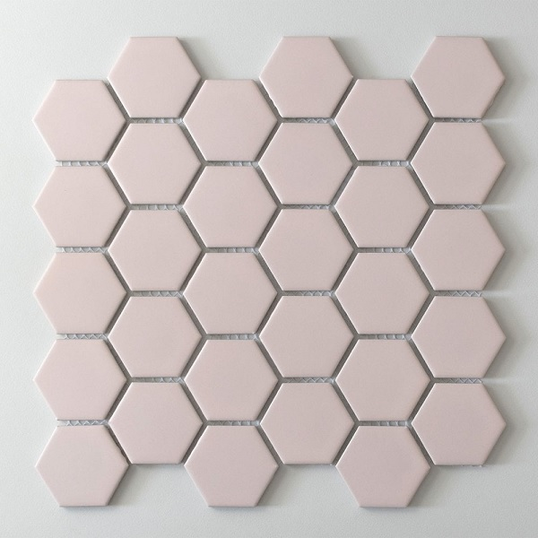 gạch mosaic màu hồng nhạt