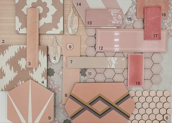 Gạch ốp tường màu hồng: 15++ mẫu gạch đẹp nhất kèm báo giá