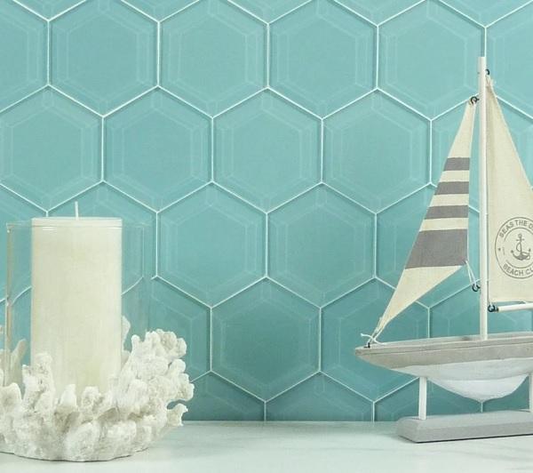 Gạch lục giác men bóng trang trí tường phòng ngủ tạo hiệu ứng đẹp mắt