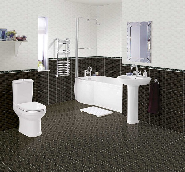 gạch ốp tường màu đen viglacera B4585 - B4586