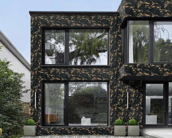 Mẫu gạch ốp tường ngoại thất màu đen Mikado MUX126800 kích thước 600x1200