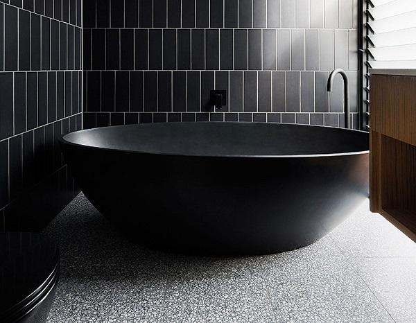mẫu gạch thẻ sang trọng cho không gian phòng tắm hiện đại