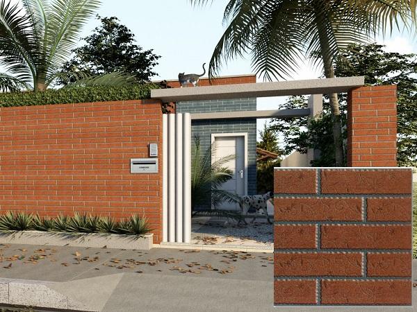 Gạch ốp tường màu nâu đỏ toroto TRG3305 cho không gian ngoại thất